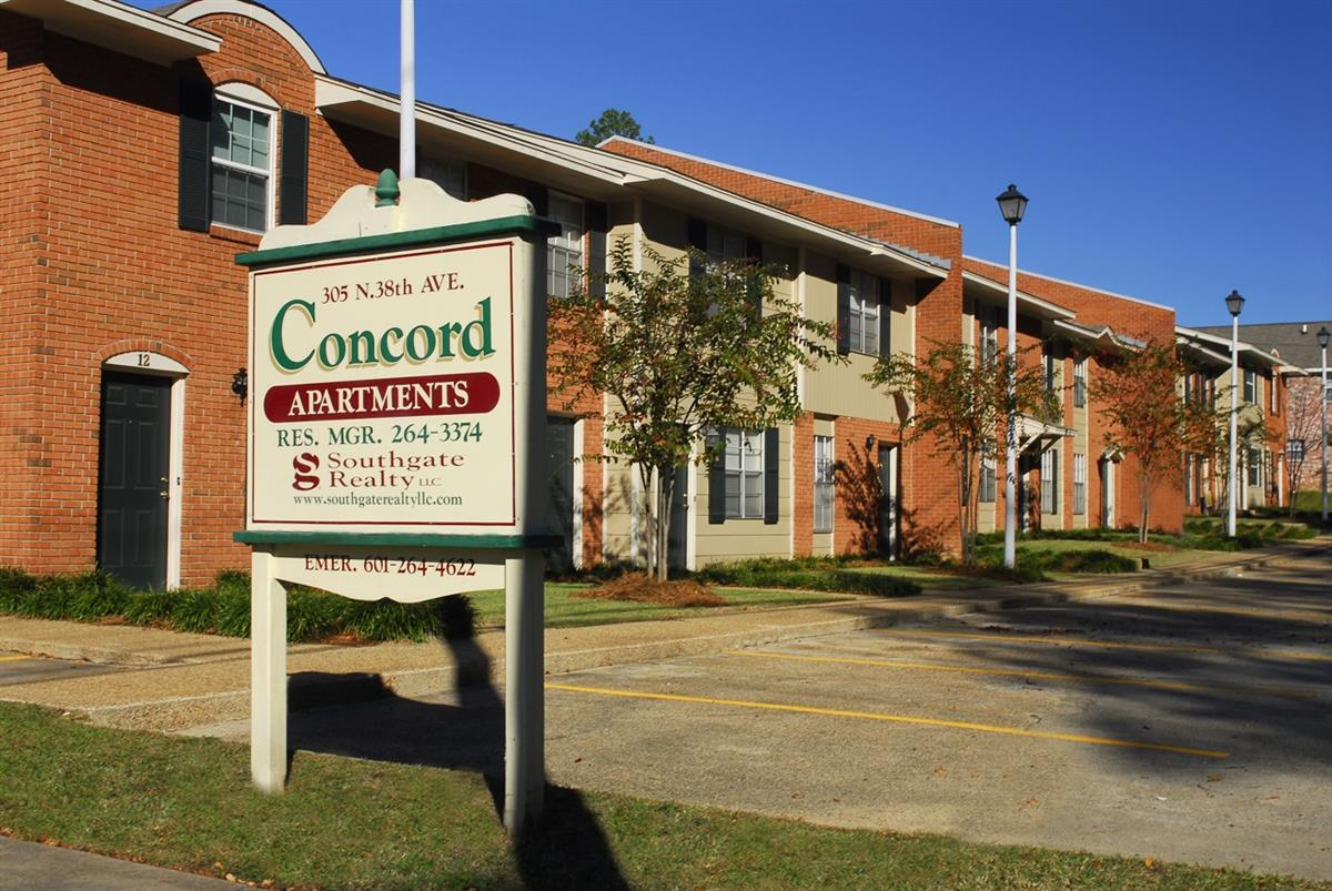 Concord Townhomes Apartment In Hattiesburg Ms